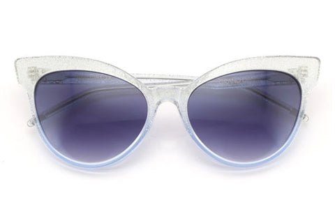 a3f924a0a8 Wildfox - Grand Dame Crystal Cove   Gloss Silver Sunglasses