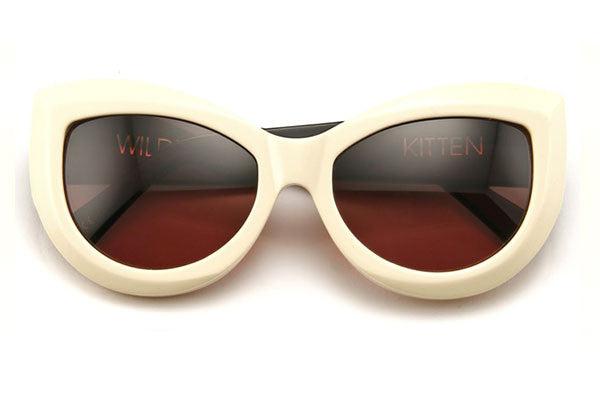 Wildfox - Kitten Cream & Black Sunglasses