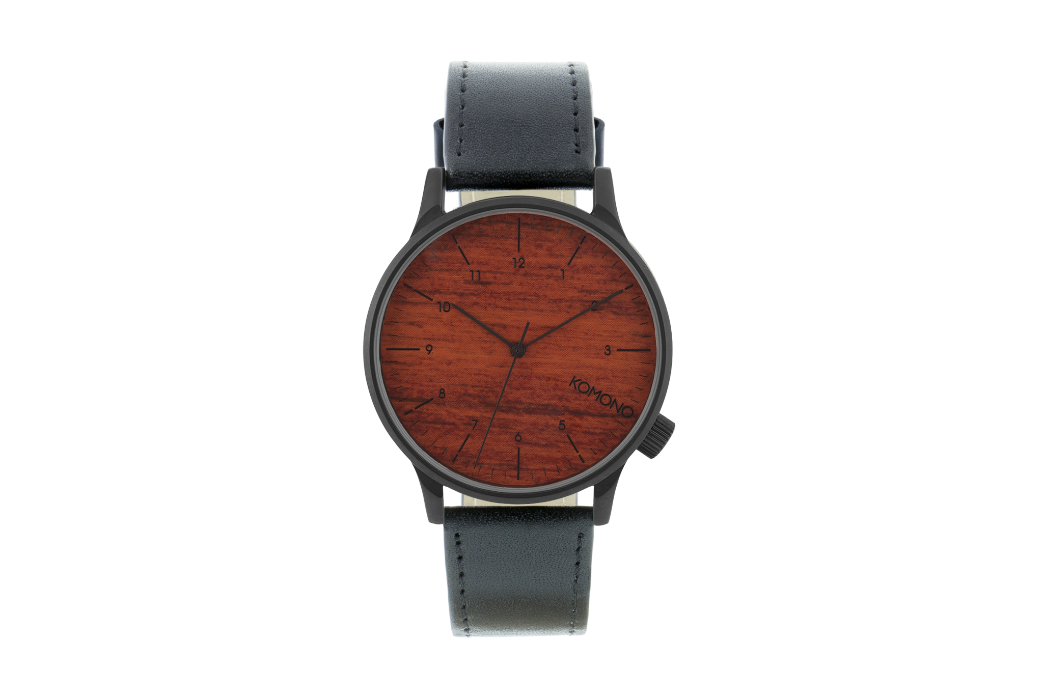 Komono - Winston Black Wood Watch