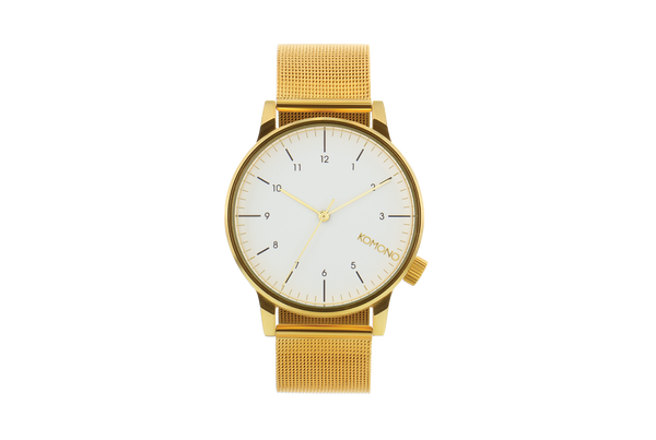 Komono - Winston Royale Gold White Watch