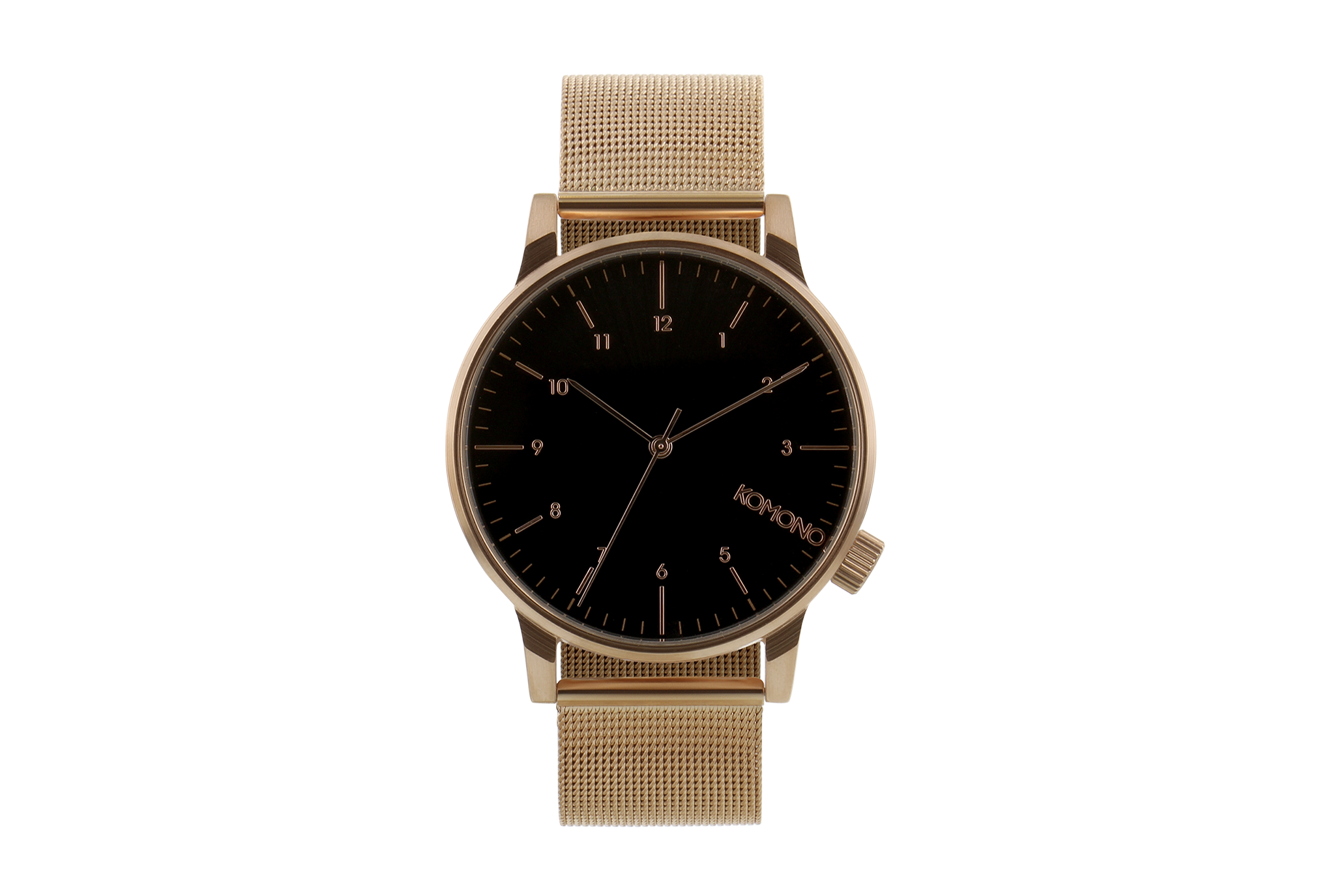 Komono - Winston Royale Rose Gold Black Watch