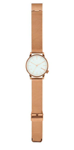 Komono - Winston Royale Rose Gold White Watch