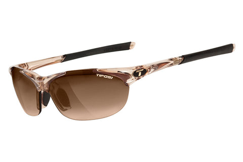Tifosi - Wisp Crystal Brown Sunglasses, Interchangeable AC Red / Brown Gradient / Clear Lenses