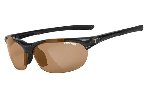 Tifosi - Wisp Gloss Black Sunglasses, Brown Polarized Lenses