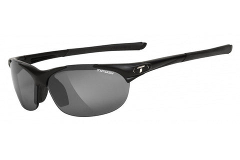 Tifosi - Wisp Matte Black Sunglasses, Interchangeable AC Red / Clear / Smoke Lenses