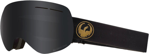 Dragon - X1S Gold Snow Goggles / Dark Smoke + Flash Blue Lenses