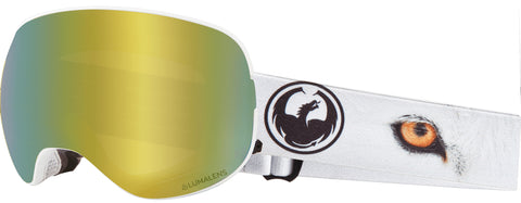 Dragon - X2 Prey Snow Goggles / Gold Ion + Dark Smoke Lenses