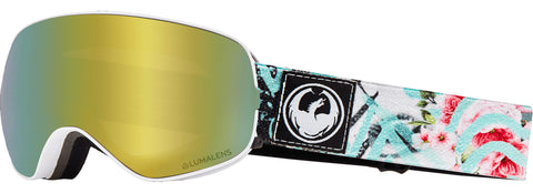Dragon - X2S Flaunt Snow Goggles / Gold Ion + Dark Smoke Lenses