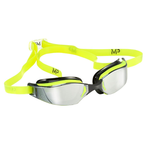 MP Michael Phelps - XCEED Neon Yellow Black Swim Goggles / Mirror Lenses