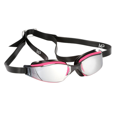 MP Michael Phelps - XCEED Black Pink Swim Goggles / Mirror Lenses