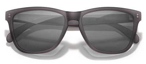 Sunski - Headland Grey Sunglasses / Black Polarized Lenses