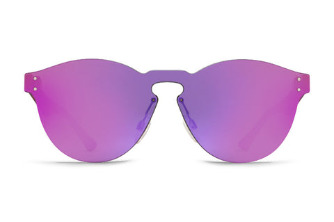VonZipper - Alt Ditty Tortoise Satin Sunglasses / Pink Chrome Lenses