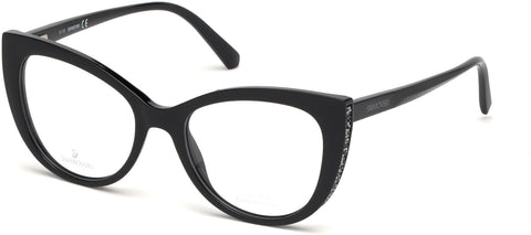 Swarovski - SK5291 Shiny Black Eyeglasses / Demo Lenses