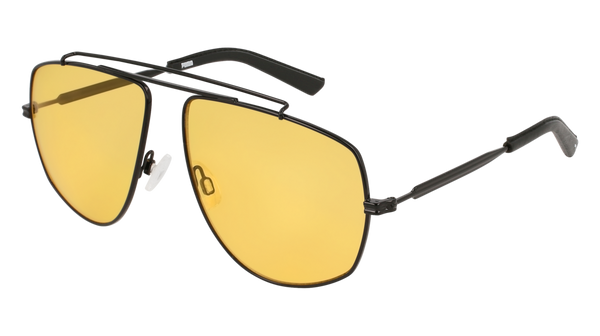 Puma - PU0188S Black Sunglasses / Yellow Lenses