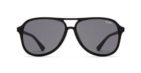 Quay - Magnetic Black Sunglasses / Smoke Lenses