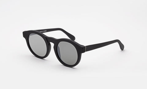 Super - Boy Black Matte Sunglasses / Black Lenses