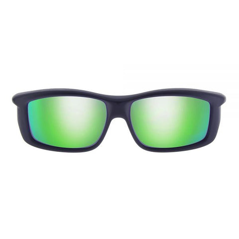 Jonathan Paul Fitovers - Yamba Satin Black Fitover Sunglasses / Polarvue Green Mirror Lenses
