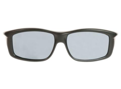 Jonathan Paul Fitovers - Yamba Satin Black Fitover Sunglasses / Polarvue Gray Lenses