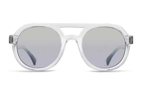 VonZipper - Psychwig Crystal Quartz Tortoise Sunglasses / Silver Chrome Gradient Lenses