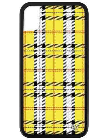 Wildflower - Yellow Plaid iPhone XS Max Case