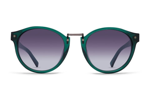 VonZipper - Stax Translucent Emerald Sunglasses / Grey Gradient Lenses