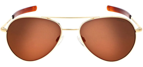 Randolph - Yeager 57mm 23K Gold Bayonet Temple Sunglasses / SkyForce Polarized Autumn Sunset Lenses