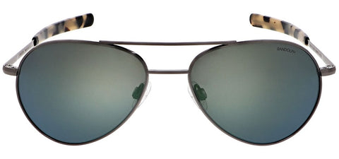 Randolph - Yeager 57mm Gunmetal Bayonet Temple Sunglasses / SkyForce Polarized Acadian Lenses