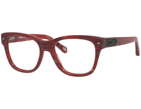 Fossil - 6075  Red Horn  Eyeglasses / Demo  Lenses