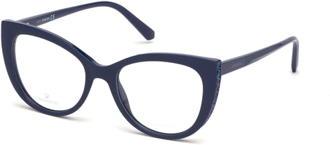 Swarovski - SK5291 Shiny Blue Eyeglasses / Demo Lenses
