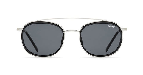 Quay - Got It Covered Silver Black Sunglasses / Smoke Lenses