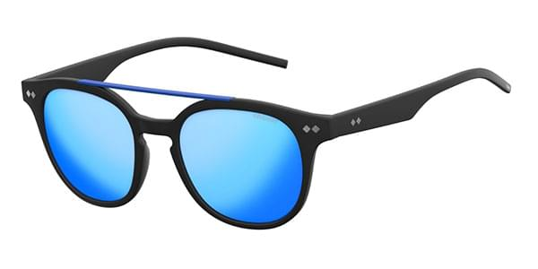 Polaroid - PLD 1023/S Matte Black Sunglasses / Grey Blue Mirror Polarized Lenses