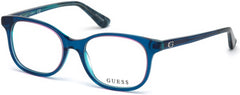 Guess - GU9176 Shiny Turquoise Eyeglasses / Demo Lenses