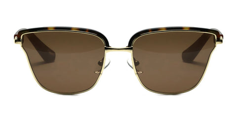 Elizabeth and James - Empire Tortoise Sunglasses / Brown Solid Lenses