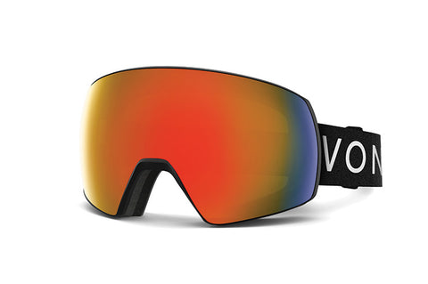 VonZipper - Satellite Black Snow Goggles / Fire Chrome Lenses