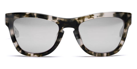 Westward Leaning - Pioneer 35 Polished Pepper Tortoise Acetate Sunglasses / Muted Silver Mirror Lenses
