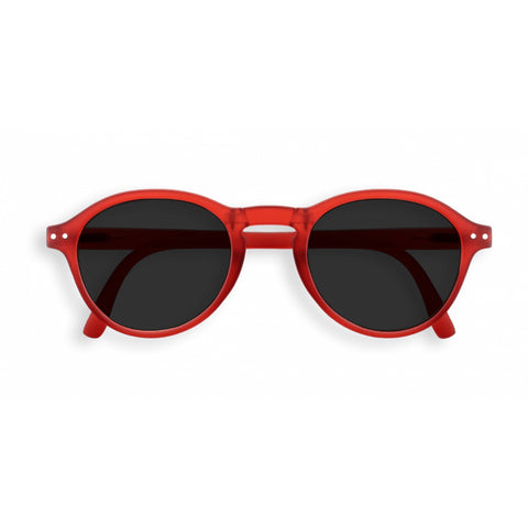 Izipizi - #F Red Crystal Folding Sunglasses / Grey Lenses