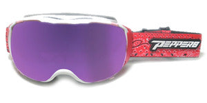 Peppers - Summit White Snow Goggles / Rose Blue Mirror Lenses