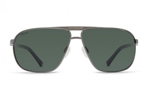 d727aa945fc VonZipper - Skitch Charcoal Gloss Sunglasses   Wild Vintage Grey Polarized  Lenses ...