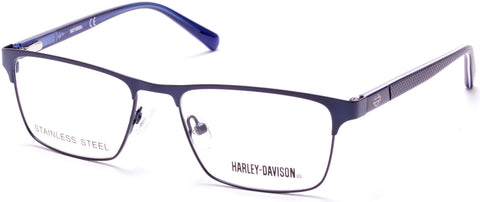 Harley-Davidson - HD0132T Matte Blue Eyeglasses / Demo Lenses