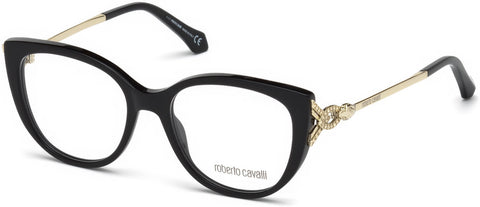 Roberto Cavalli - RC5053 Follonica Shiny Black Eyeglasses / Demo Lenses