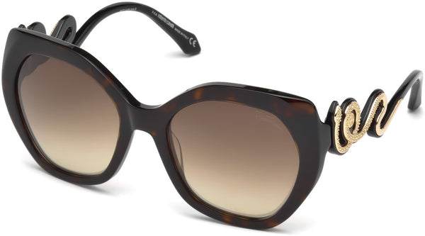 Roberto Cavalli - RC1047 Chianciano Dark Havana Sunglasses / Brown Mirror Lenses