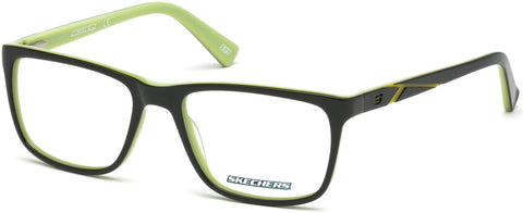 Skechers - SE3212 Shiny Dark Green Eyeglasses / Demo Lenses