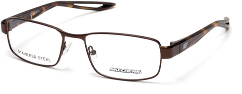 Skechers - SE3224 Matte Dark Brown Eyeglasses / Demo Lenses