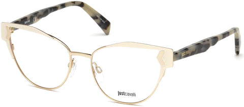 Just Cavalli - JC0816 Shiny Rose Gold Eyeglasses / Demo Lenses