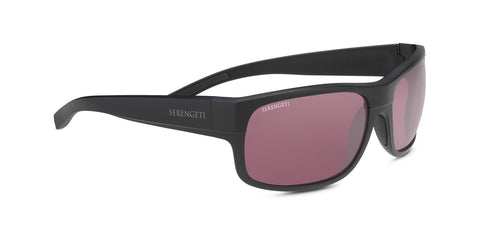 Serengeti - Bergamo Matte Black Sunglasses / PhD 2.0 Polarized Sedona Lenses