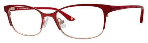 Liz Claiborne - L 644 50mm Semi Matte Red Eyeglasses / Demo Lenses