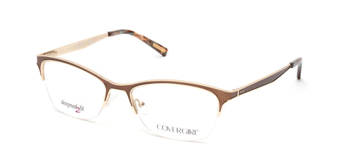 Cover Girl - CG0543 Matte Dark Brown Eyeglasses / Demo Lenses