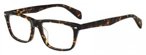 Rag & Bone - Rnb 7014 Dark Havana Eyeglasses / Demo Lenses
