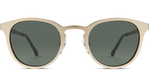 Komono - Hollis White Gold Sunglasses / Smoke Lenses