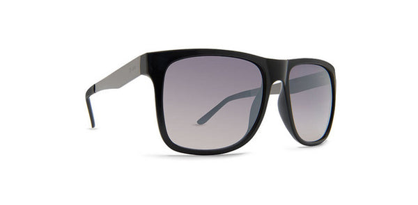Dot Dash - Admiral Black Gloss Sunglasses / Grey Chrome Gradient Lenses